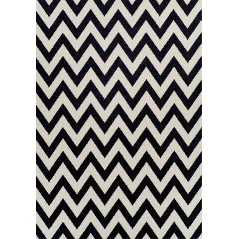 Koberec ADISA 67x120 - slonovinová / tmavě šedá