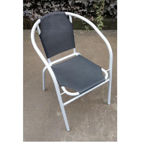 Židle LESTRA - tmavě šedá / šedá