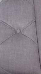 Manželská postel OREA 180x200 - látka šedohnědá č.5