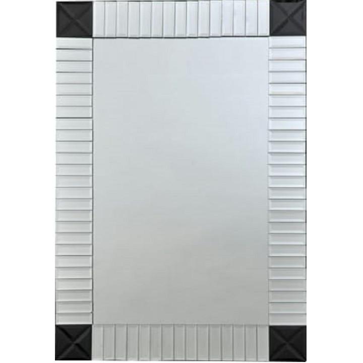 Tempo Kondela Zrcadlo ELISON TYP 3 - stříbrná/černá + kupón KONDELA10 na okamžitou slevu 3% (kupón uplatníte v košíku)