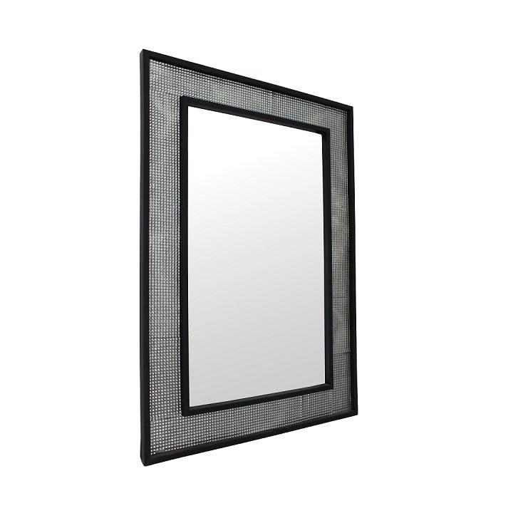 Tempo Kondela Zrcadlo ELISON TYP 9 - stříbrná / černá + kupón KONDELA10 na okamžitou slevu 3% (kupón uplatníte v košíku)