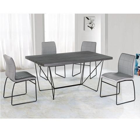 Jídelní stůl PALMER - šedá / černá