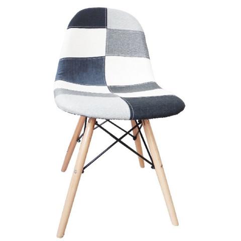 Jídelní židle CANDIE NEW TYP 3 - černa/bíla/šedá