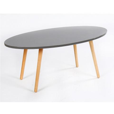 Konferenční stolek BAZZY 1 - šedá/ natural