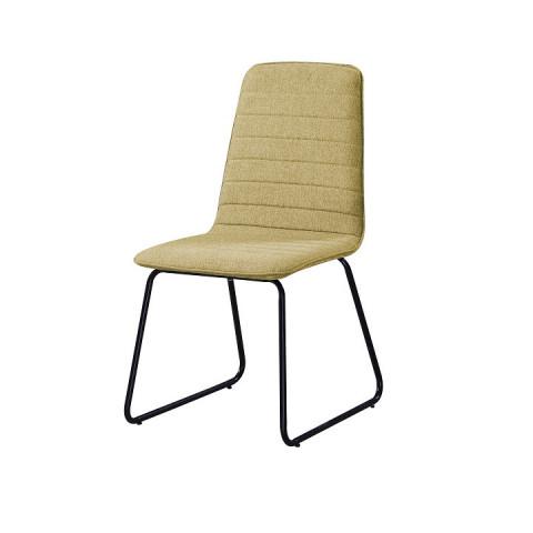 Jídelní židle DANUTA - zelenožlutá látka