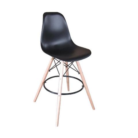 Barová židle CARBRY - černá/kov