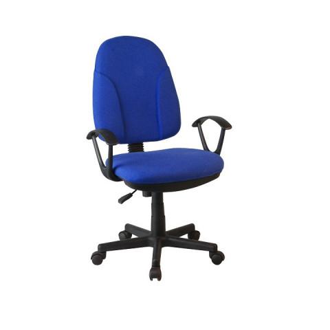 Kancelářská židle DEVRI - modrá látka
