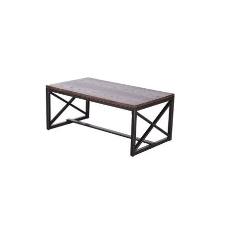 Konferenční stolek EBAN - ořech/černá