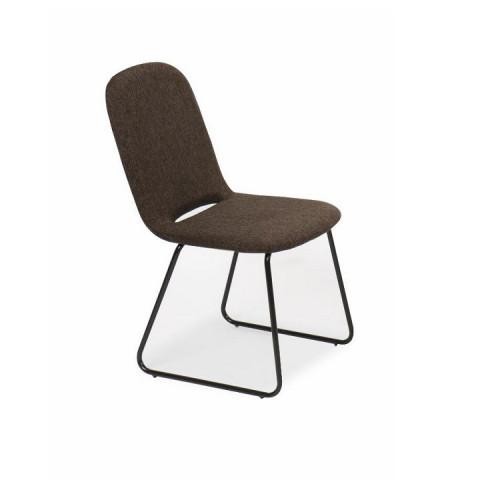 Jídelní židle ADLAN - hnědá / černá