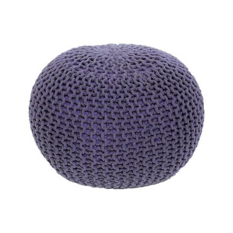 Pletený taburet GOBI TYP 2 - fialová bavlna