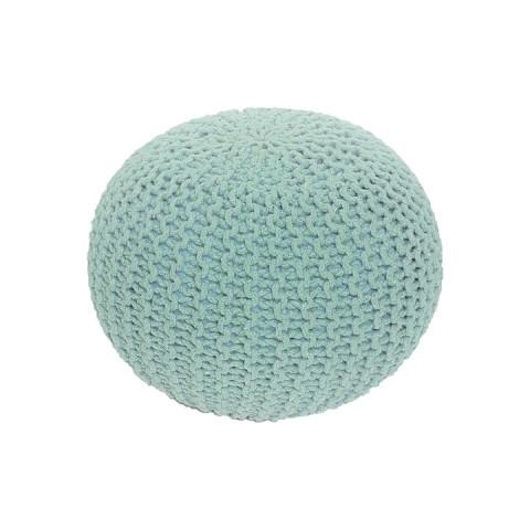 Pletený taburet GOBI TYP 2 - mentol bavlna
