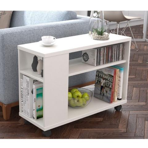 Příruční stolek Zoela - bílá
