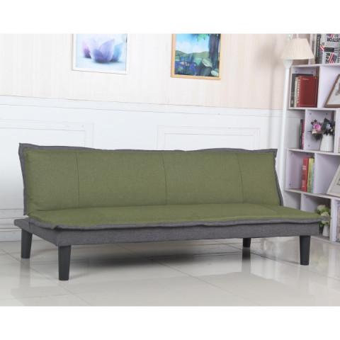 Pohovka FILA - látka zelená / šedá