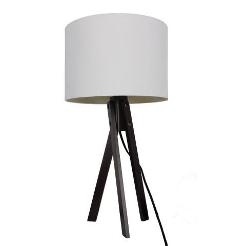 Stolní lampa LILA Typ 4 - bílá / dřevo