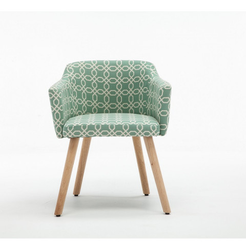 Designové křeslo DIPSY - vzor zelená