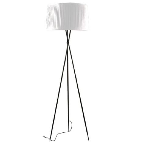Stojací lampa CINDA TYP 10 - černý kov / bíle stínítko