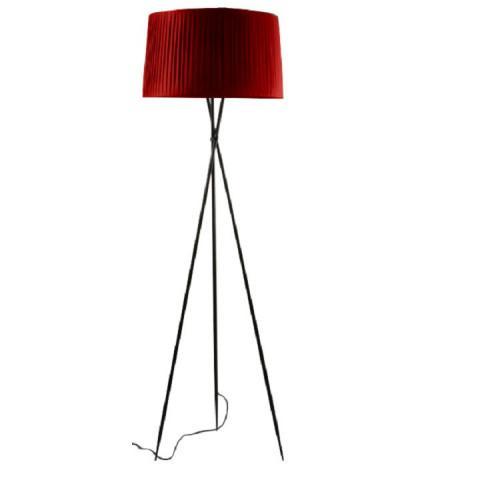 Stojací lampa CINDA TYP 11 - černý kov / červený odstín
