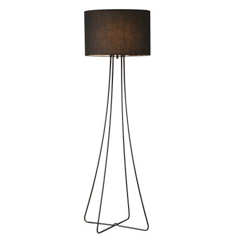 Stojací lampa Cinda Typ 12 - černý kov / látka