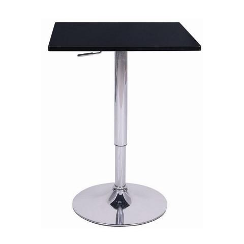 Barový stůl s nastavitelnou výškou FLORIAN - černá
