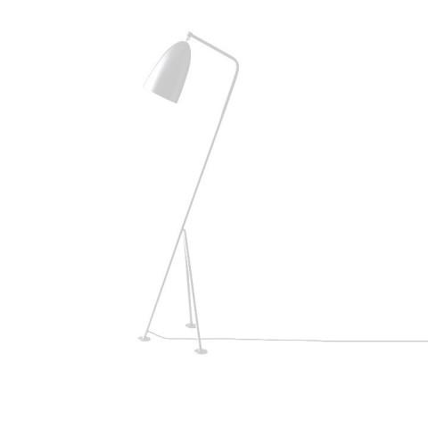 Stojací lampa Cinda Typ 24 - bílý kov