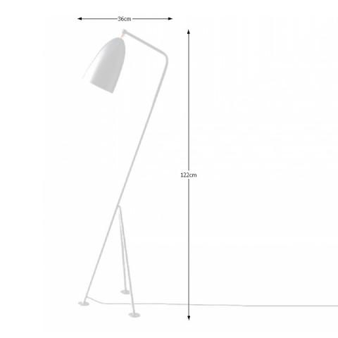 Stojací lampa, bílý kov, Cinda Typ 24