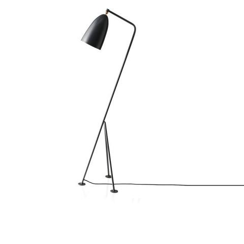 Stojací lampa Cinda Typ 25 - šedý kov