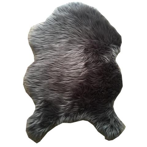 Koberec, umělá kožešina EBONY TYP 5 - šedá