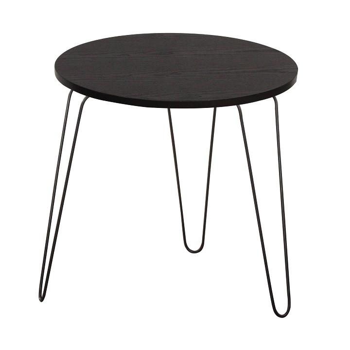 Tempo Kondela Příruční stolek RONIN - černý dub / černá + kupón KONDELA10 na okamžitou slevu 3% (kupón uplatníte v košíku)