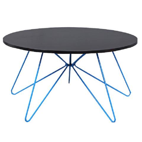 Konferenční stolek MIKKEL - černý dub / modrá