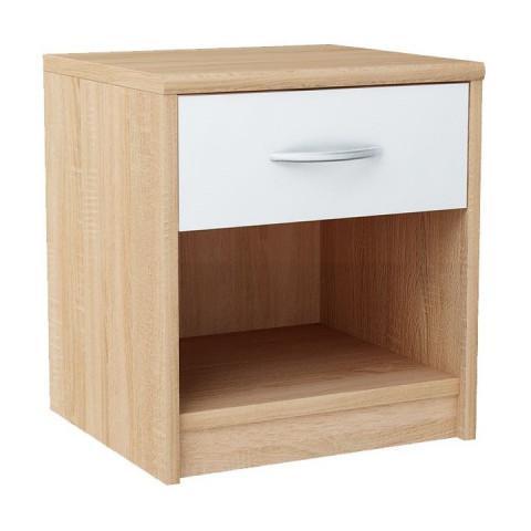 Noční stolek MARKER - dub sonoma / bílá