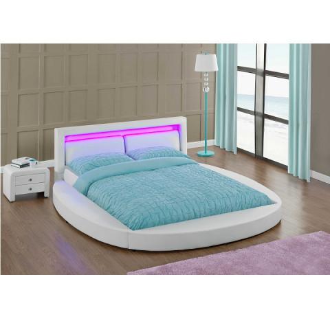 Postel BLESS s RGB LED osvětlením 180x200 - bílá