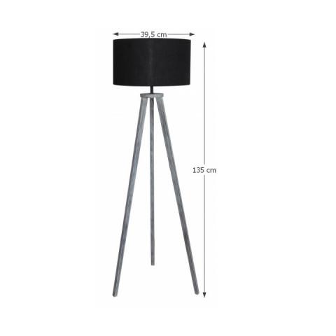 Stojací lampa, šedá, JADE Typ 10