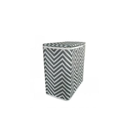 Koš na prádlo DORAN TYP 1 - šedá/bílá