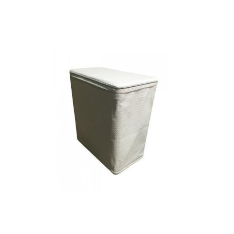 Koš na prádlo DORAN TYP 2 - krémová ekokůže