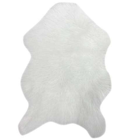 Koberec, umělá kožešina EBONY TYP 1 - bílá