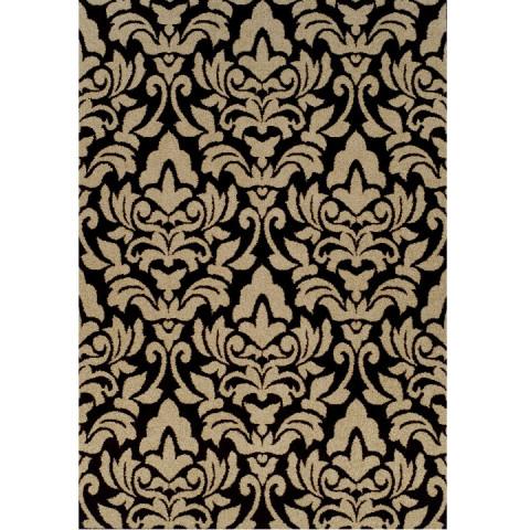 Koberec LORENS 67x120 - béžová / tmavě hnědá
