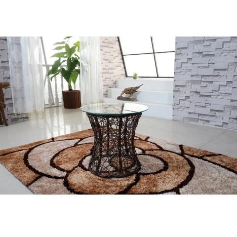 Příruční stolek SALMAR - hnědá