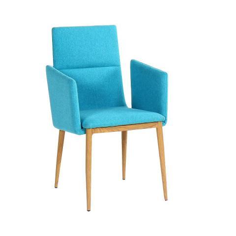 Jídelní židle JENNER - tyrkysová / natural