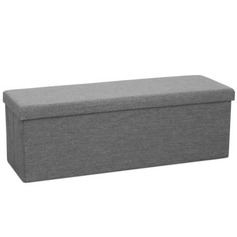 Skládací taburet UMINA - šedá látka