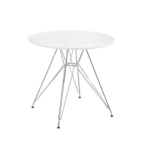Jídelní stůl RONDY - bílý lesk