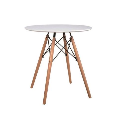 Jídelní stůl GAMIN 60 - dřevo + MDF, bílá