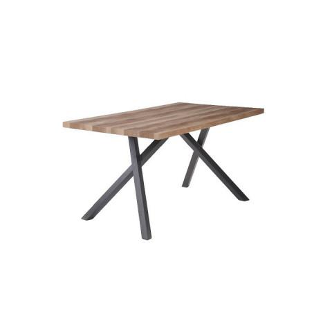Jídelní stůl GURDUN - světla švestka / černá