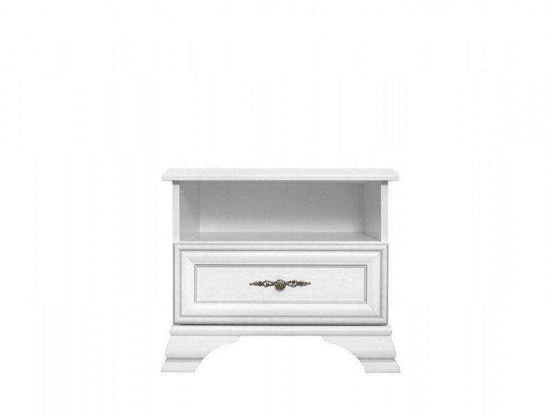 Noční stolek Idento KOM1S - Bílá