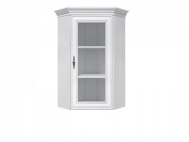 Rohová vitrína Idento NADN1W - Bílá