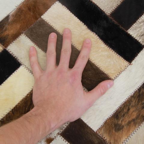 Luxusní koberec KOŽA typ2 170x200 - typ patchworku č.4