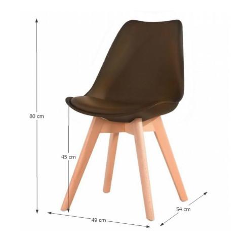 Židle, tmavě hnědá + buk, BALI NEW