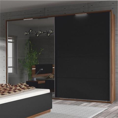 Skříň DEGAS - ořech / černá