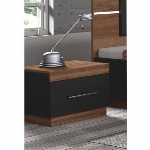 Noční stolek DEGAS - ořech / černá