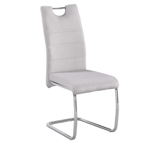 Jídelní židle, látka krémová/ chrom, ABIRA NEW