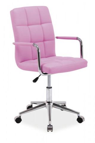 Kancelářská židle Q022 - růžová